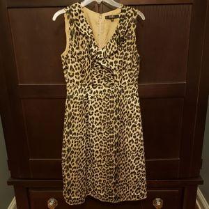 Alex Marie Sleeveless Leopard Print Dress - 8